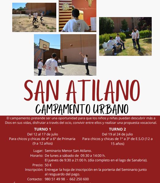 Campamento urbano san Atilano 2021
